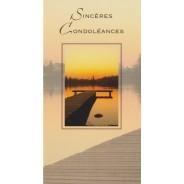 Cartes de Condoléances, 3 cartes au choix
