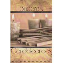 Grandes cartes de condoléances, 5 modèles