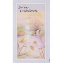 Cartes simples par 5, Sincères condoléances en 3 modèles