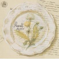 Assiette Faïence, carte dessin et aquarelle