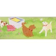 Happy Birthday chez les chiens, carte d'anniversaire 3 D