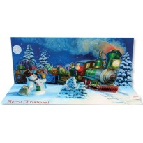 Train de Saint Nicolas, carte musicale en 3 D