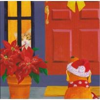 Joyeux Noël entre chiens et chats, carte pop up