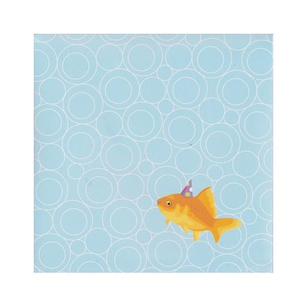 Carte d 39 anniversaire 3 d le poissons rouge sort de l for Acheter poisson rouge angers