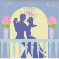 Mariage ou anniversaire de mariage, carte en 3 D