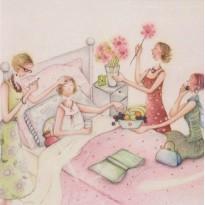 Bon Rétablissement, carte pour une amie malade