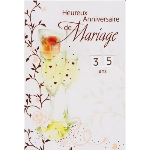 Cartes Heureux Anniversaire De Mariage De 1 An à 99 Ans De