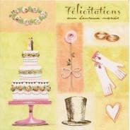 Félicitations aux Heureux Mariés, carte double