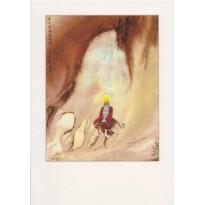 Peintures chinoises de Maître Wu Mo, reproduction sur carte canson double