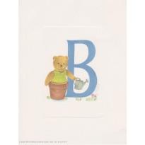 Lettrines avec oursons à encadrer pour les enfants
