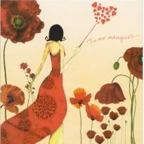 """""""Tu me manques"""", carte de Saint Valentin"""
