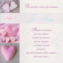 """""""Plus qu'hier, moins que demain"""", carte Saint Valentin"""