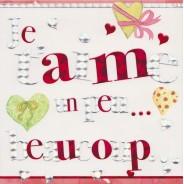 """""""Je t'aime un peu, beaucoup"""", carte de Saint Valentin"""