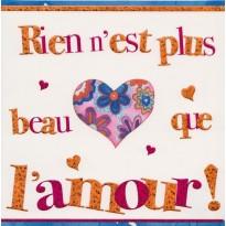 """""""Rien n'est plus beau que l'Amour"""", carte de Saint Valentin"""