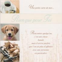 """""""Rien que pour toi"""" carte pour une amitié fidèle"""