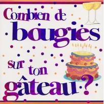 Bougies ou Fleurs ? cartes d'anniversaires