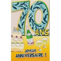 Cartes Anniversaires des dizaines de 30 ans à 90 ans