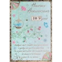 Cartes d'Anniversaires de 10 ans à 119 ans !