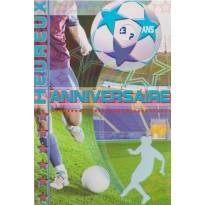 Cartes Joyeux anniversaires Thème du sport : voile, ballons, pêche, surf