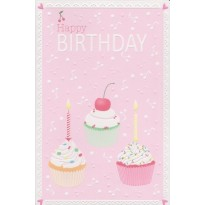 Lot de 3 cartes Joyeux Anniversaire et Happy Birthday