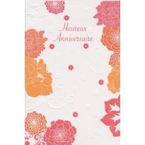 Carte Anniversaire Bouquet de fleurs Heureux Anniversaire