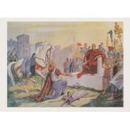 """Jeu de 13 Cartes """"Histoire de France"""", reproductions anciens tableaux pédagogiques"""