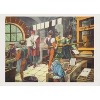 Histoire de France, jeu de 13 cartes reproductions anciens tableaux pédagogiques