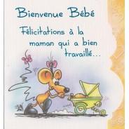 Bienvenue Bébé, carte Félicitations de naissance