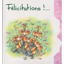 Carte de Félicitations avec humour pour toutes occasions
