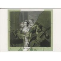 """""""Le Concert"""", Trompe l'oeil au verre cassé de François xavier Vispre, reproduction en carte postale"""