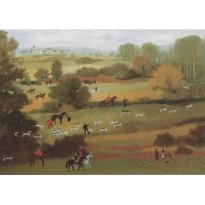 """""""Le Débucher"""" de Michel Delacroix, carte reproduction du tableau"""