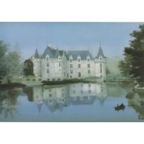 Château d'Azay-le-Rideau par Michel Delacroix, carte postale reproduction
