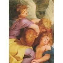 Anges musiciens, modèles variés, reproductions sur cartes postales de tableaux connus