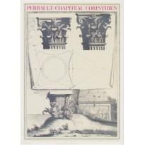 Chapiteau Corinthien par Claude Perrault, carte postale d'art
