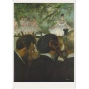 Musiciens à l'orchestre d'Edgar Degas, carte postale d'art