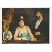 """""""Une loge aux Italiens"""" d'Eva Gonzales, carte postale d'art"""