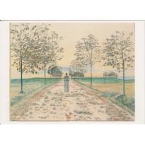"""""""Soir d'automne"""" de Ferdinand Hodler, carte postale d'art"""