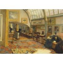 """""""Atelier du Peintre à la porte de Brandebourg"""" de Max Liebermann, carte d'art"""