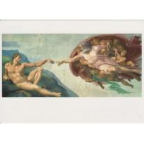 La Création d'Adam de Michel Ange, carte d'art