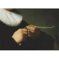 """""""Portrait d'un homme taillant une plume"""" de Rembrandt"""