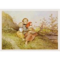 """""""Saison d'été"""" de Ludwig Richter, carte d'art"""