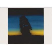 """Le bateau fantôme"" d'Ed Ruscha, carte postale d'art"