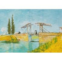"""""""Pont de Langlois à Arles"""" Vincent Van Gogh, carte d'art"""