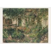 """Jardin paysan en fleurs"" de Lovis Corinth, carte d'art"