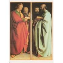 Les Quatre Apôtres d' Albert Dürer, carte d'art
