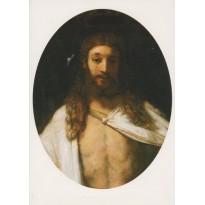 """""""Le Christ ressuscité"""" de Rembrandt, carte d'art"""