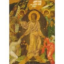 Résurrection, icône du 16ème siècle, Nicosie, carte d'art