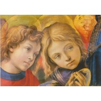 Têtes d'Anges de Filippino Lippi, reproduction carte d'art