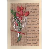 Bouquet de Noël, carte de Bonne année avec sujet scrapbooking