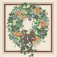 Couronne de l'Avent en encadré écossais, carte de Noël